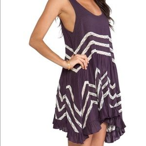 Free People Voile Purple Lace Dress intimately XS